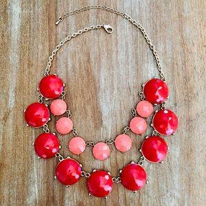 Jewelry - Peach + Coral BUBBLE Necklace 🧡❤️
